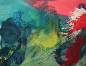 Experimentelles Acrylbild von Petra Guenther, Burscheid
